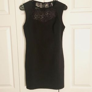Black Bodycon Dress with Lace Details